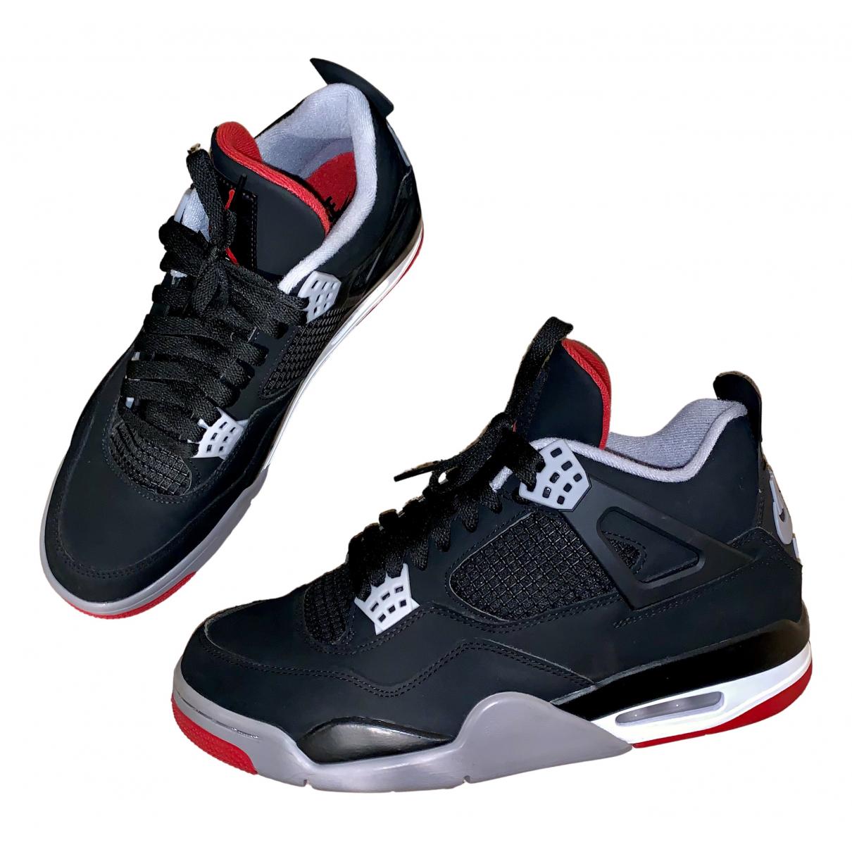 Jordan - Baskets Air Jordan 4 pour homme en suede - noir