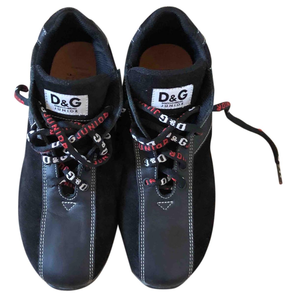 Dolce & Gabbana - Baskets   pour enfant en suede - noir