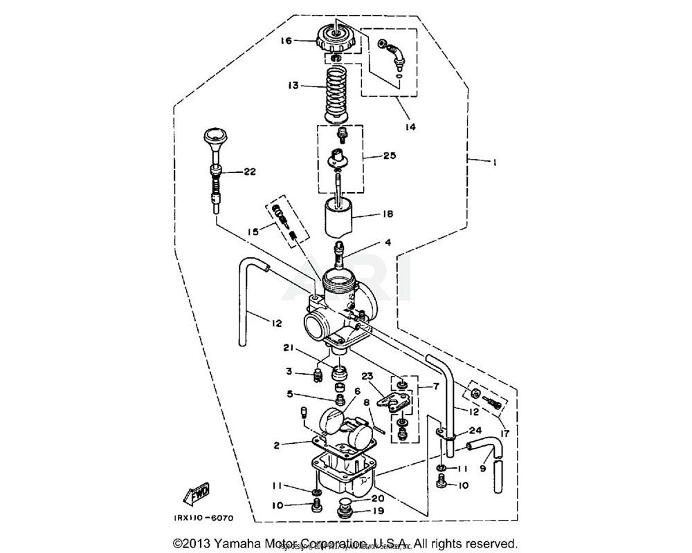 Yamaha OEM 23X-14104-00-00 AIR SCREW SET