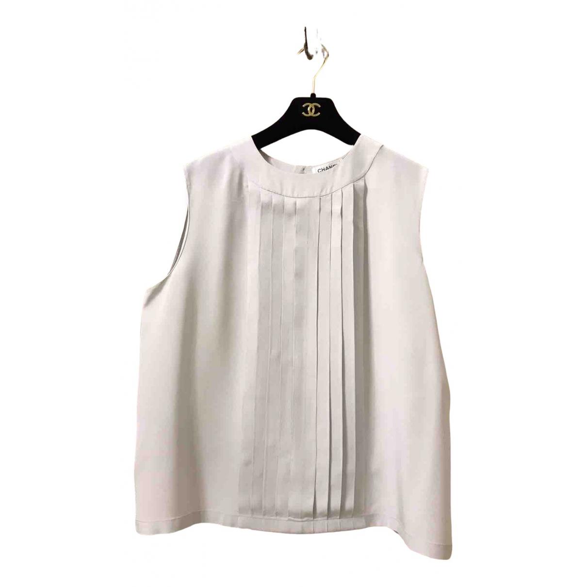 Chanel N Grey Silk  top for Women 48 FR