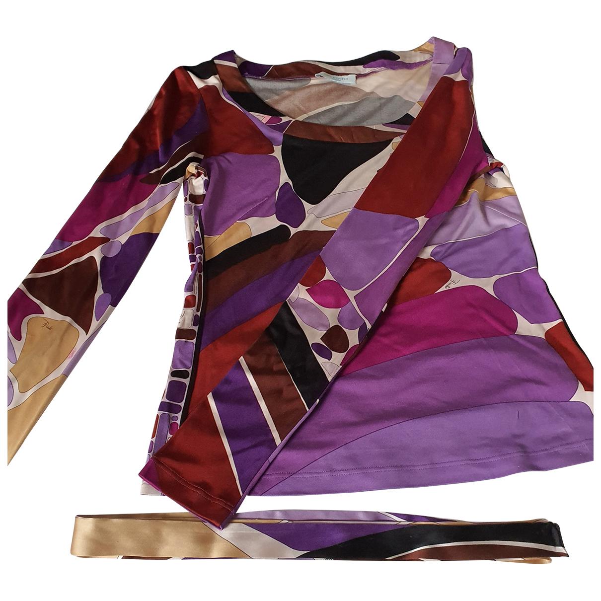 Emilio Pucci \N Purple Silk  top for Women 42 IT