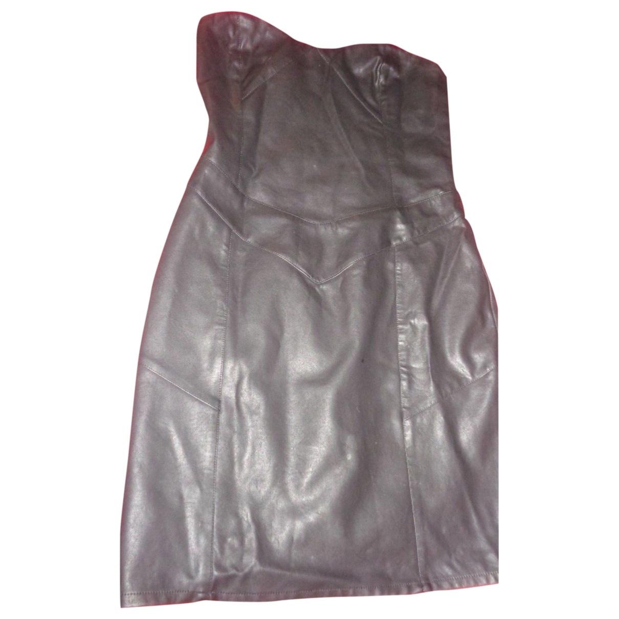 Vestido en Sintetico Negro Non Signe / Unsigned