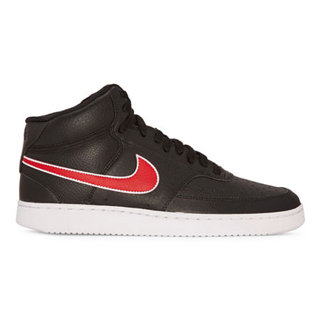 Nike Court Vision Lo Mens Basketball Shoes, 8 Medium, Black