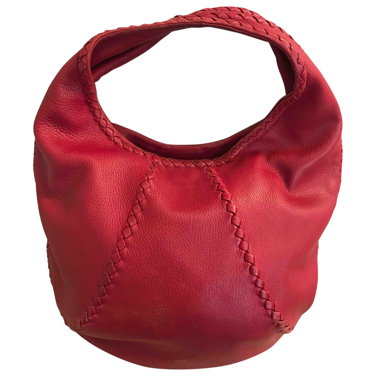 Bottega Veneta \N Red Leather handbag for Women \N