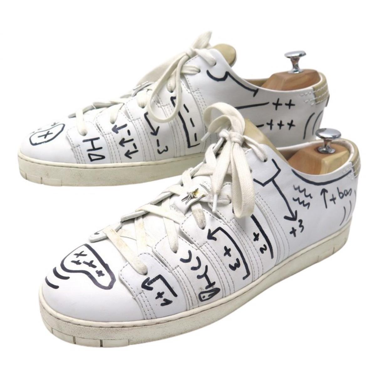 Corthay \N Sneakers in  Weiss Leder