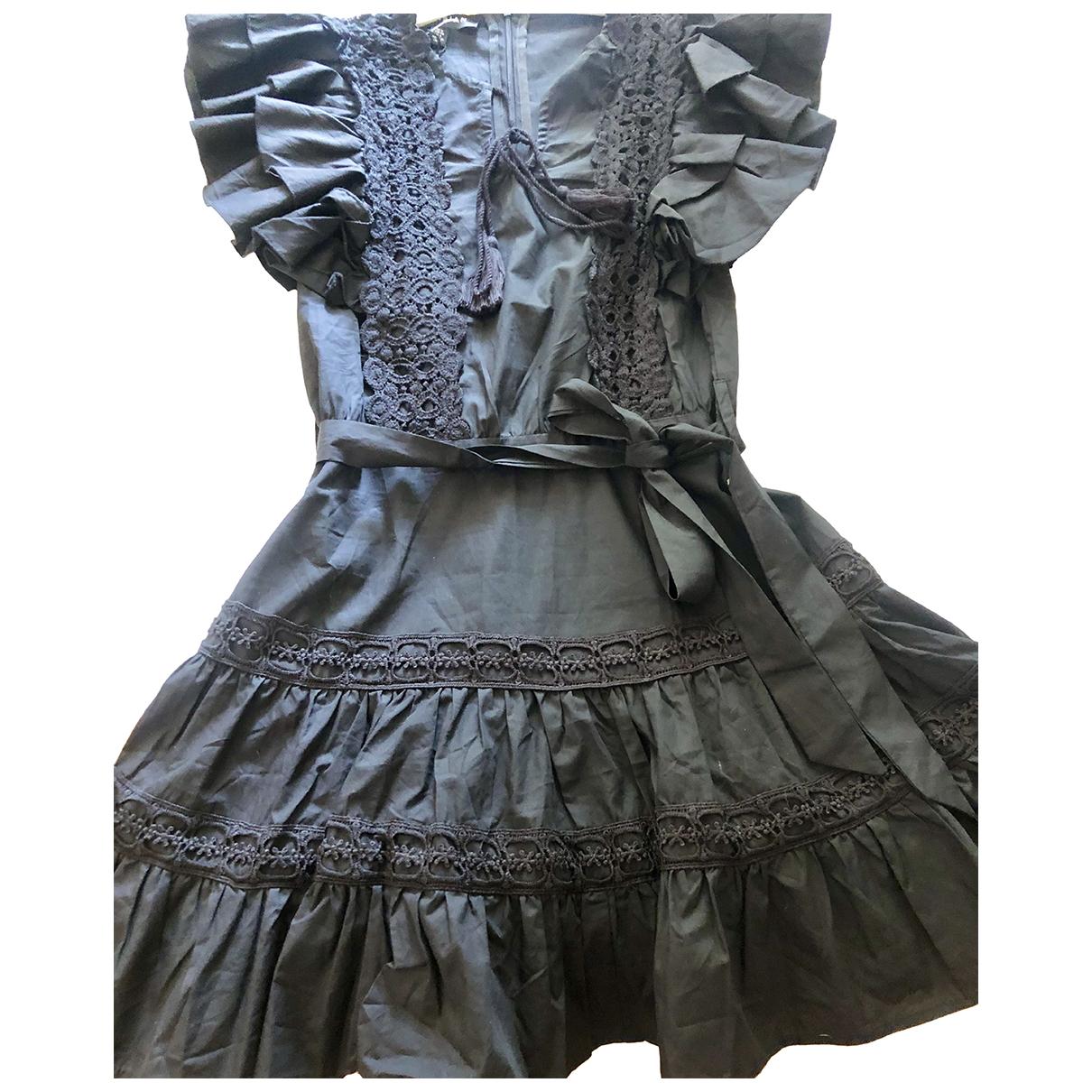 Atelier Parisien \N Kleid in  Schwarz Baumwolle