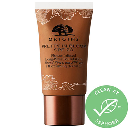 Origins Pretty in Bloom SPF 20 Flower-Infused Long-Wear Foundation, One Size , Beige