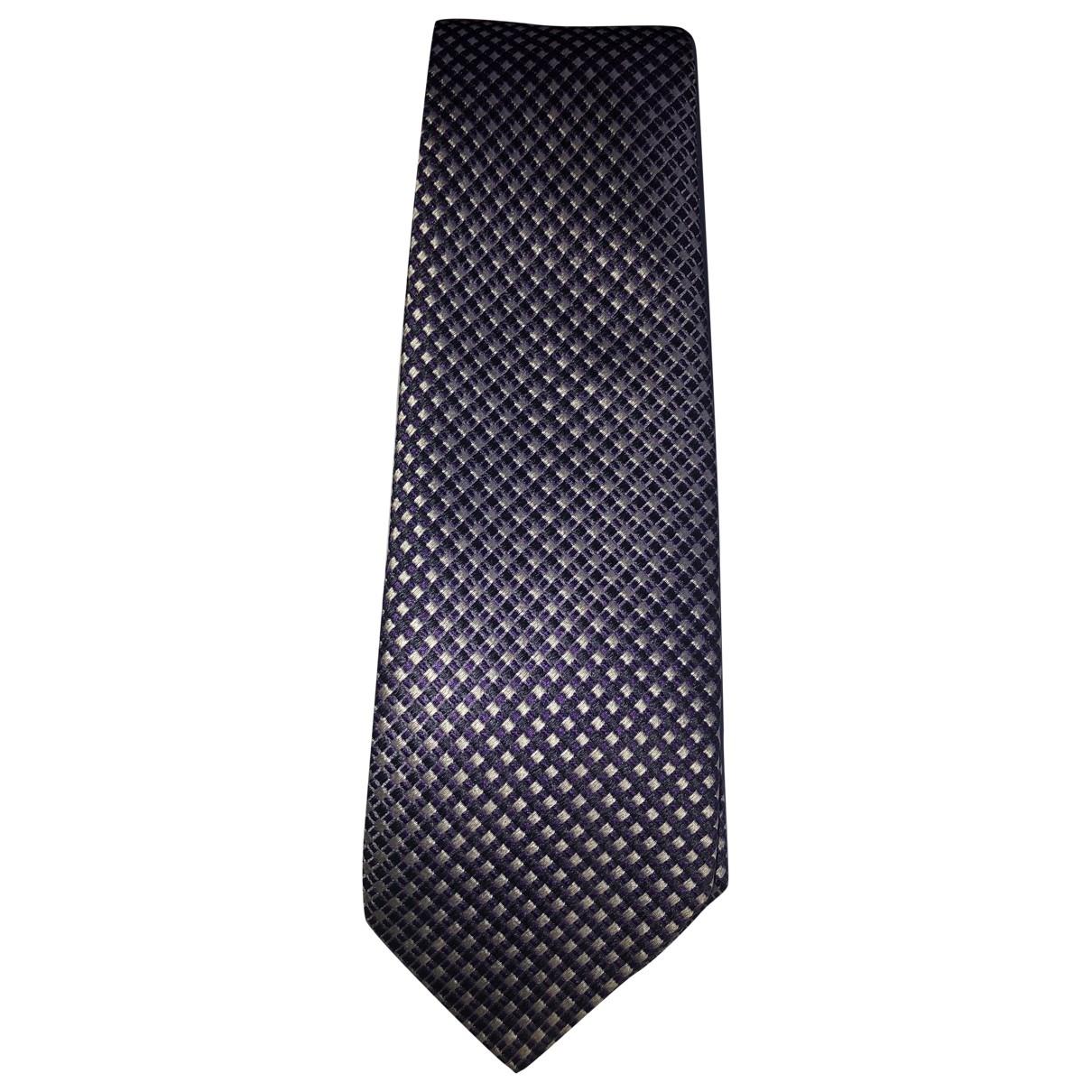 Boss \N Purple Silk Ties for Men \N
