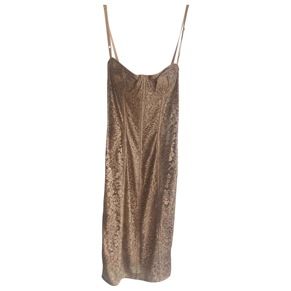 Dolce & Gabbana \N Kleid in  Beige Spitze