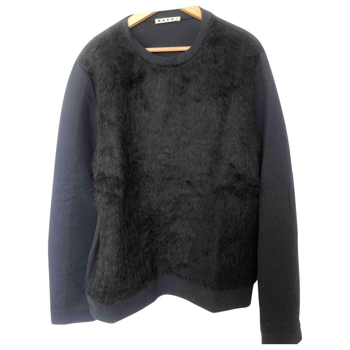 Marni \N Pullover.Westen.Sweatshirts  in  Schwarz Wolle