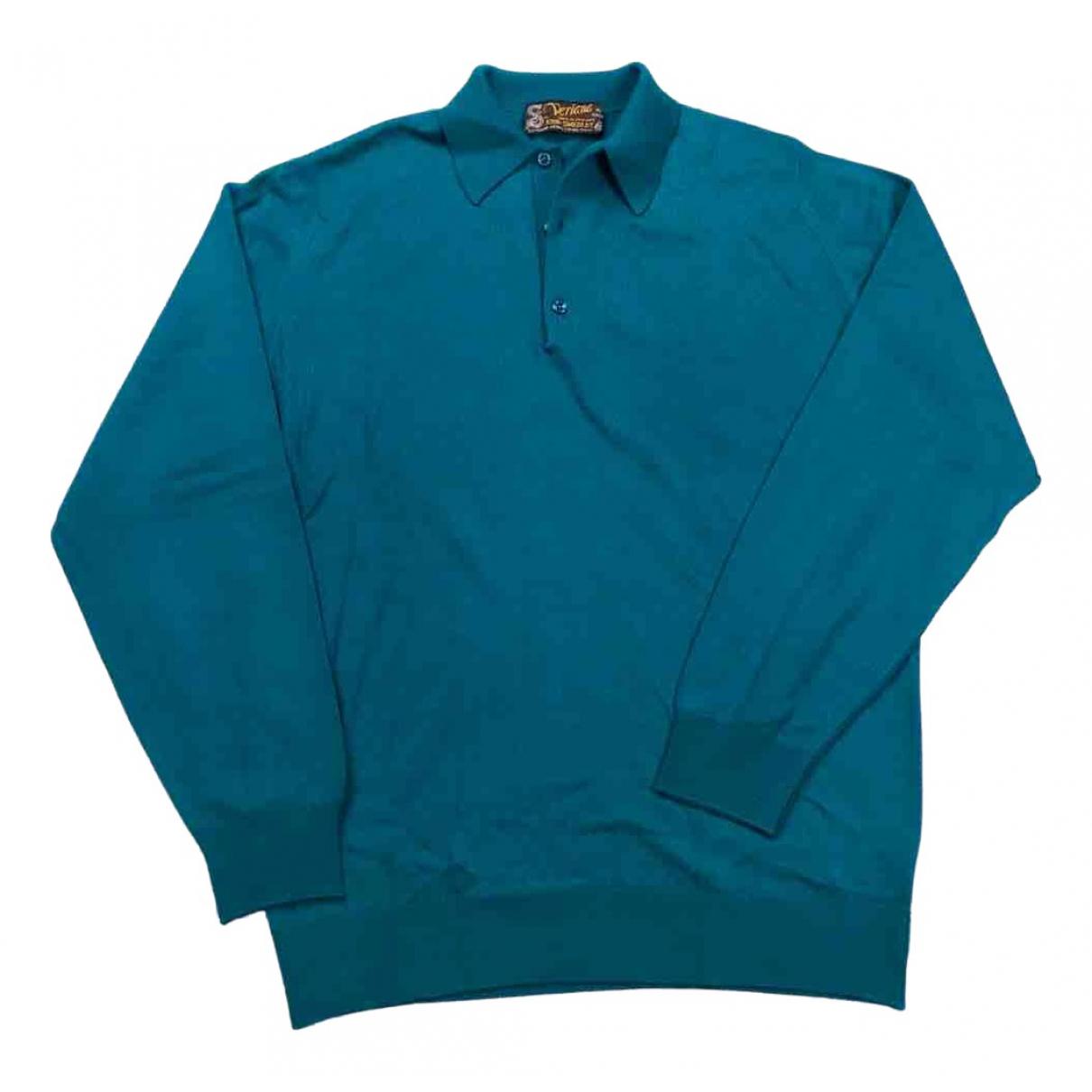 Non Signe / Unsigned \N Pullover.Westen.Sweatshirts  in  Gruen Wolle