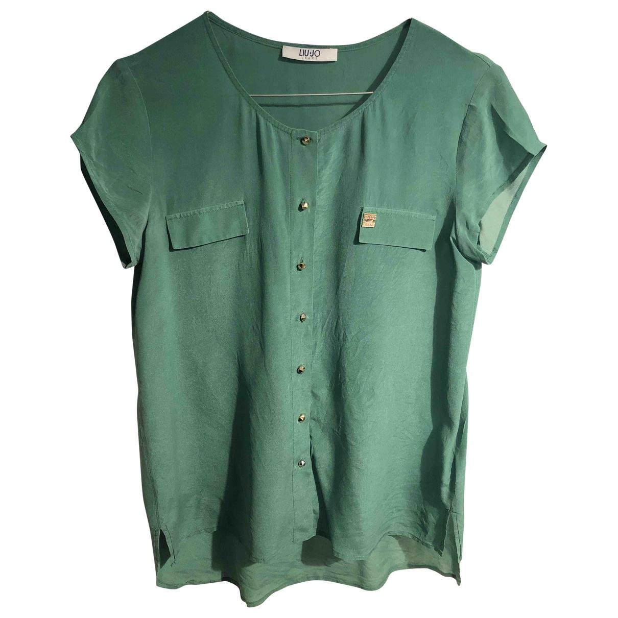 Liu.jo - Top   pour femme en soie - vert