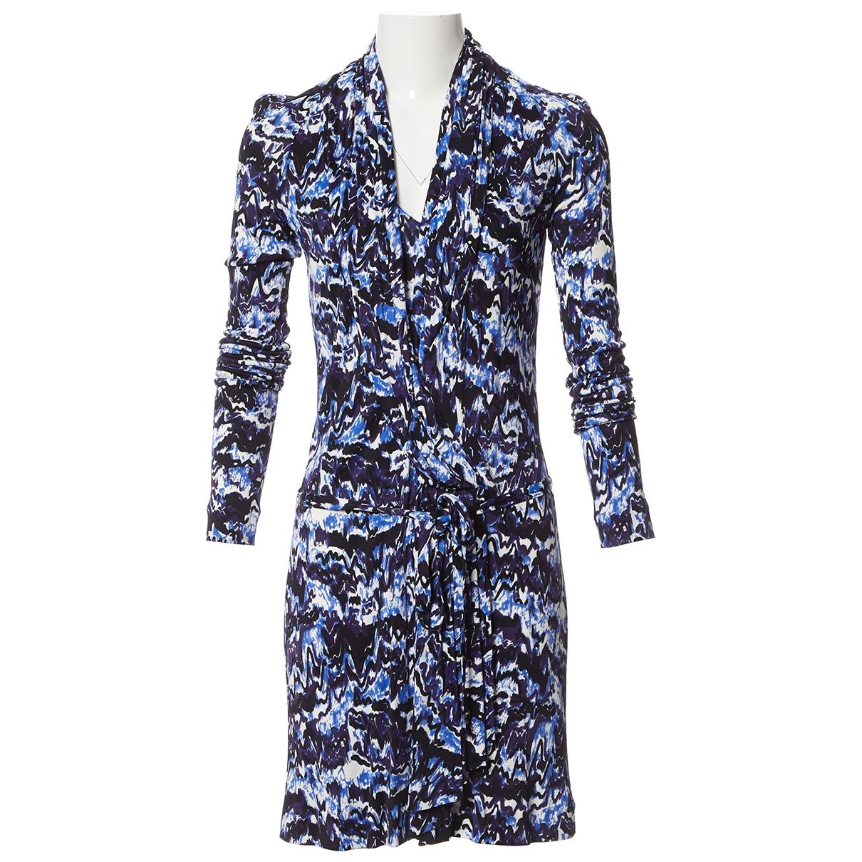 Balenciaga \N Kleid in  Marine Viskose