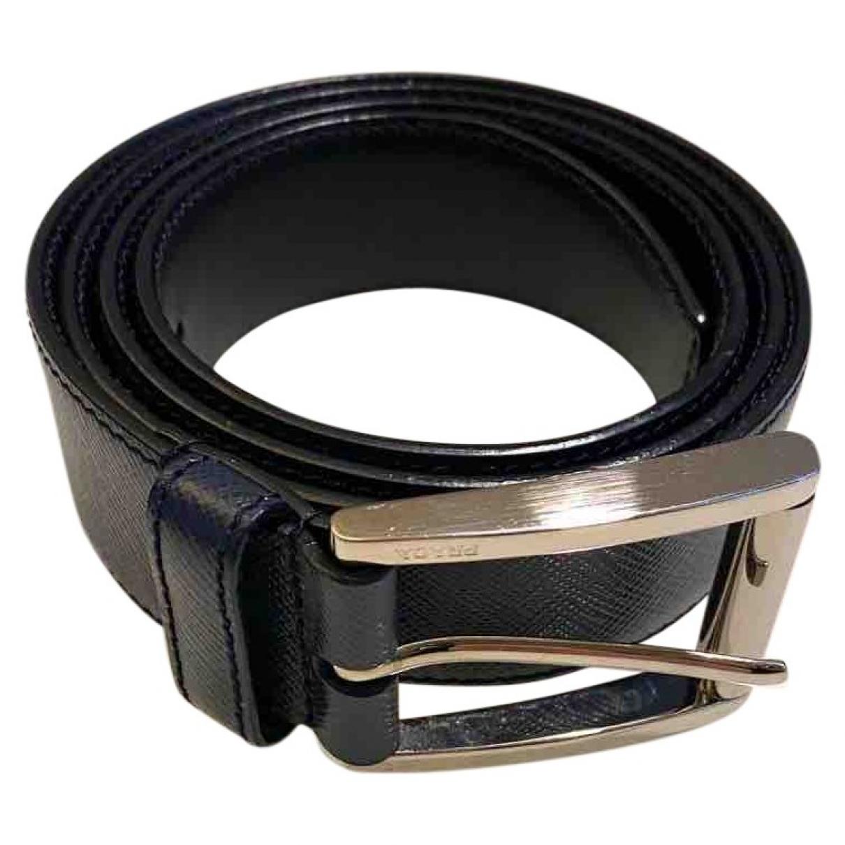 Prada \N Blue Leather belt for Men 90 cm