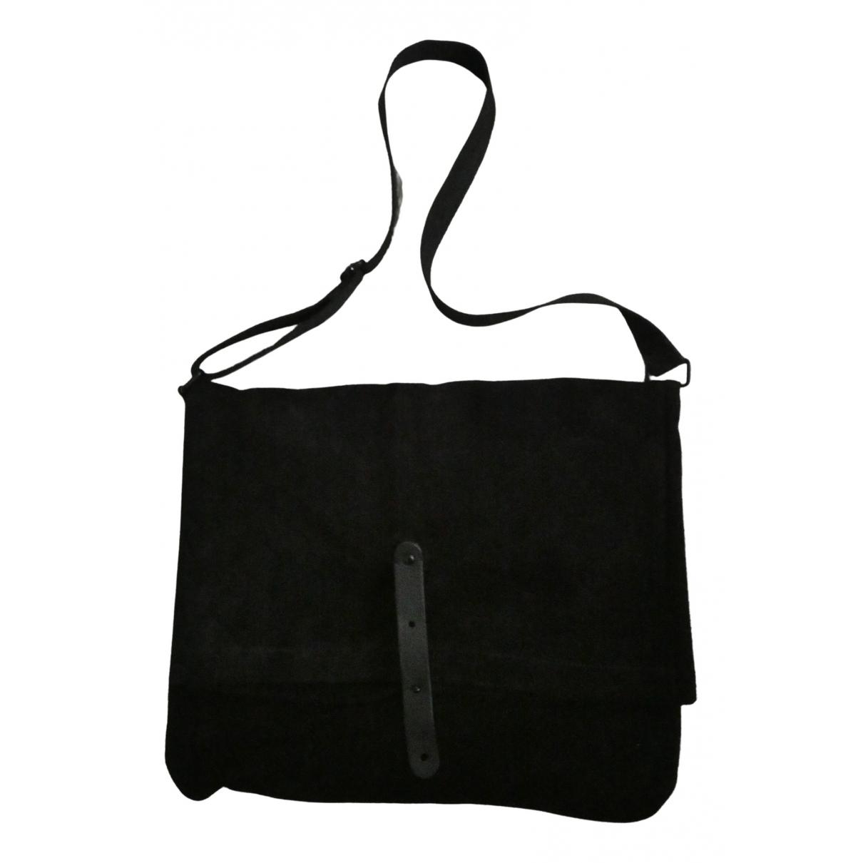 Ikks \N Black Leather bag for Men \N