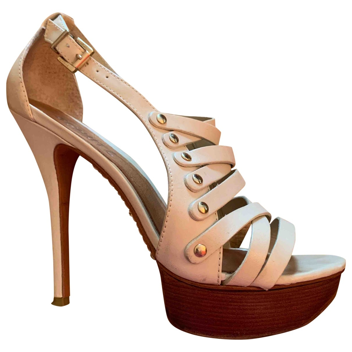 Schutz \N Ecru Leather Sandals for Women 40 EU