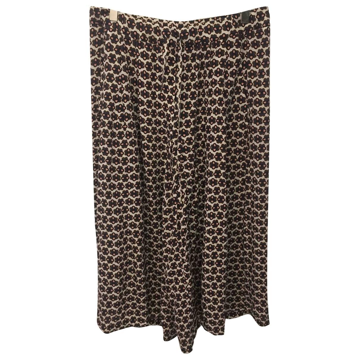 Odeeh \N Multicolour Silk Trousers for Women 38 FR
