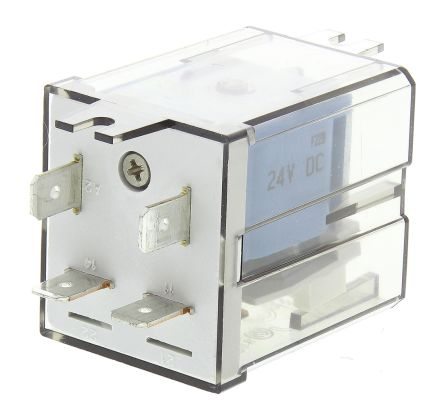 Finder , 24V dc Coil Non-Latching Relay SPNO, 30A Switching Current Flange Mount Single Pole