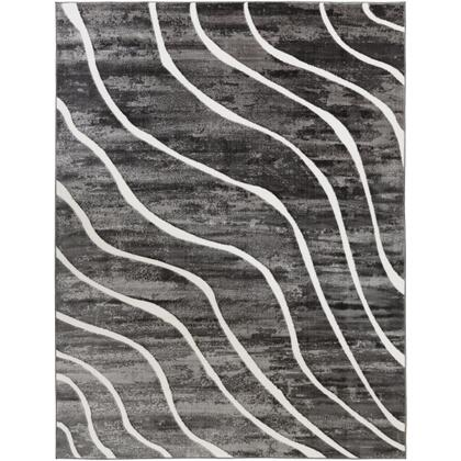 Rabat RBT-2310 710 x 102 Rectangle Modern Rug in Charcoal  Medium Gray