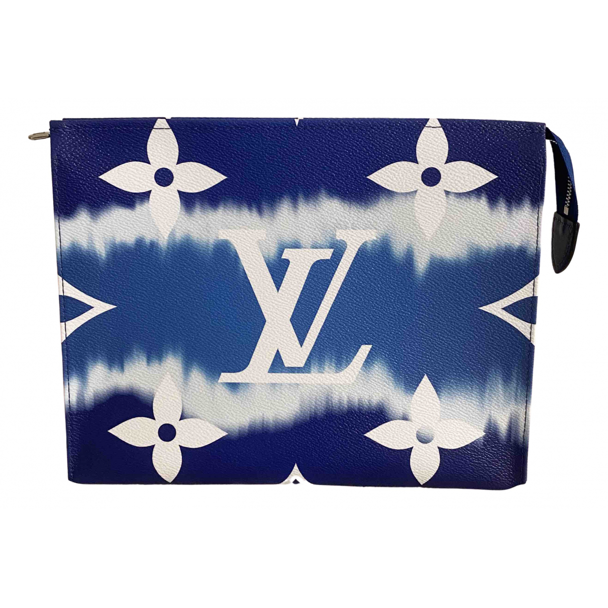 Louis Vuitton Poche toilette Blue Cloth Travel bag for Women \N