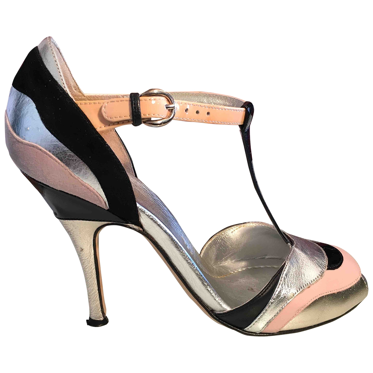 D&g \N Silver Leather Sandals for Women 38 EU