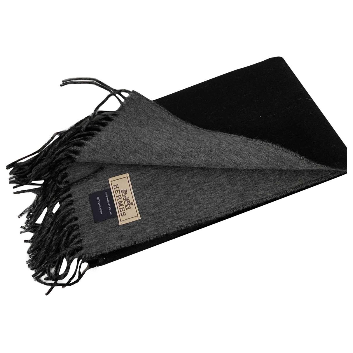 Hermès \N Anthracite Cashmere scarf for Women \N