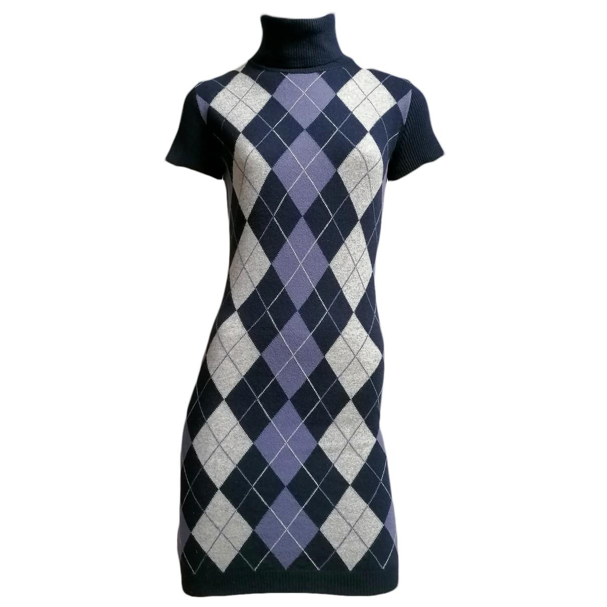 Benetton - Robe   pour femme en laine - violet