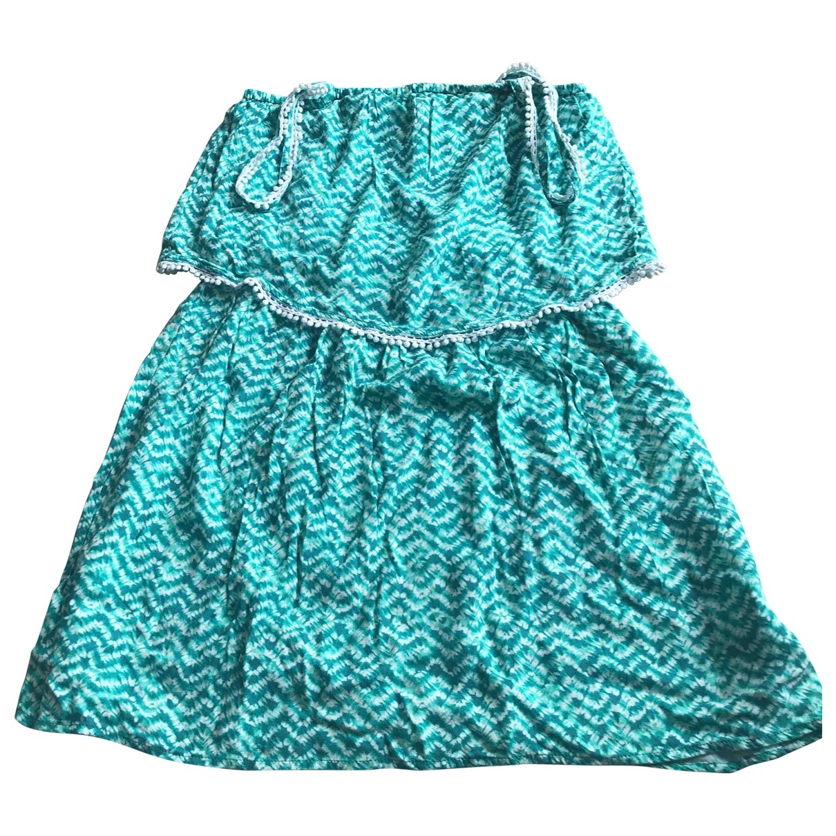 Ikks \N Green Cotton - elasthane dress for Kids 16 years - M FR