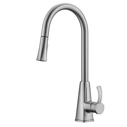 KFS406-BN Christabel Pull-down Kitchen Faucet with Hose  Brushed