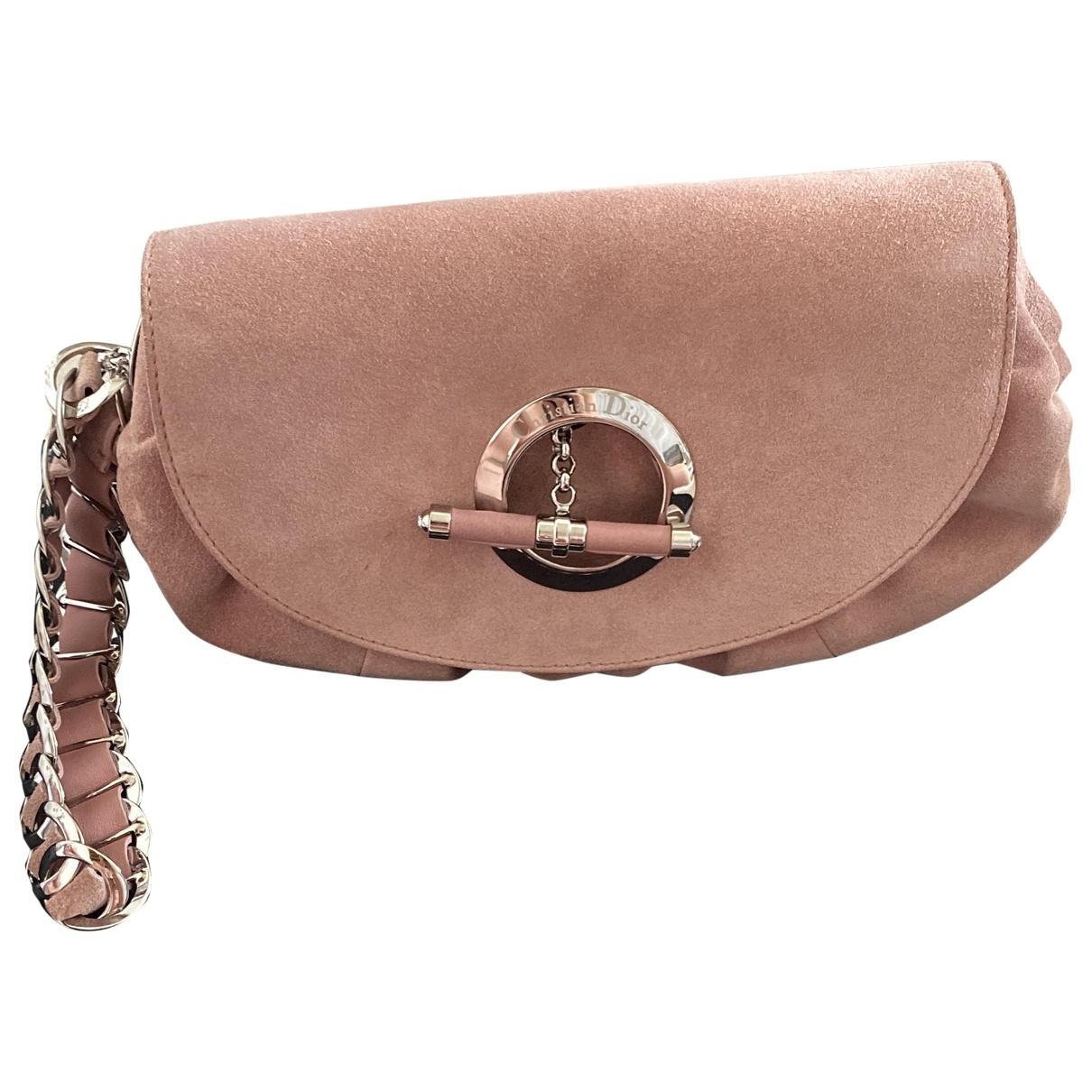 Dior \N Clutch in  Rosa Veloursleder