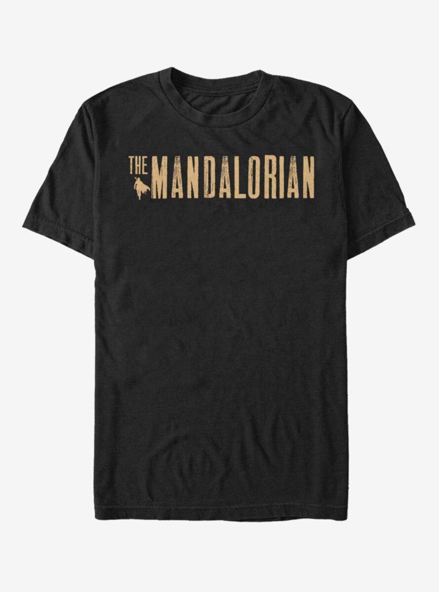 Star Wars The Mandalorian Gold Simplistic Logo T-Shirt