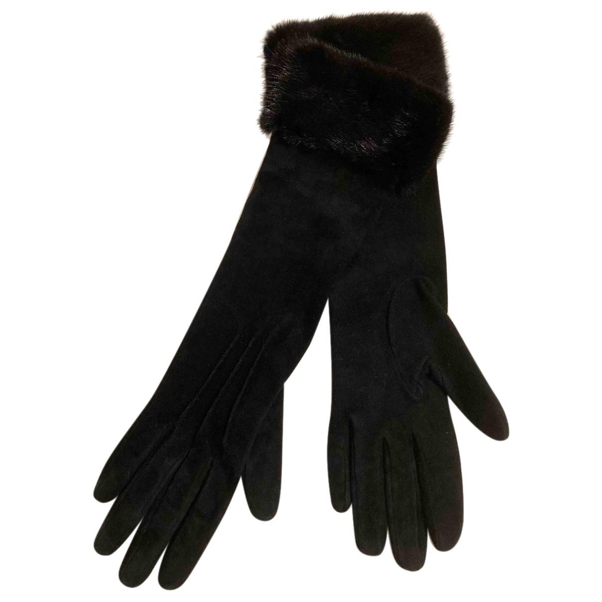 Larusmiani \N Handschuhe in  Schwarz Veloursleder