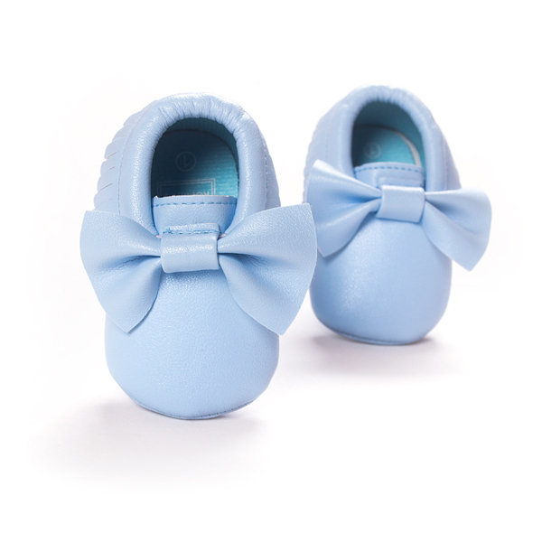 Baby Butterfly Knot Slip On Pre-Walking Tassel Flat Shoes For 0-24M