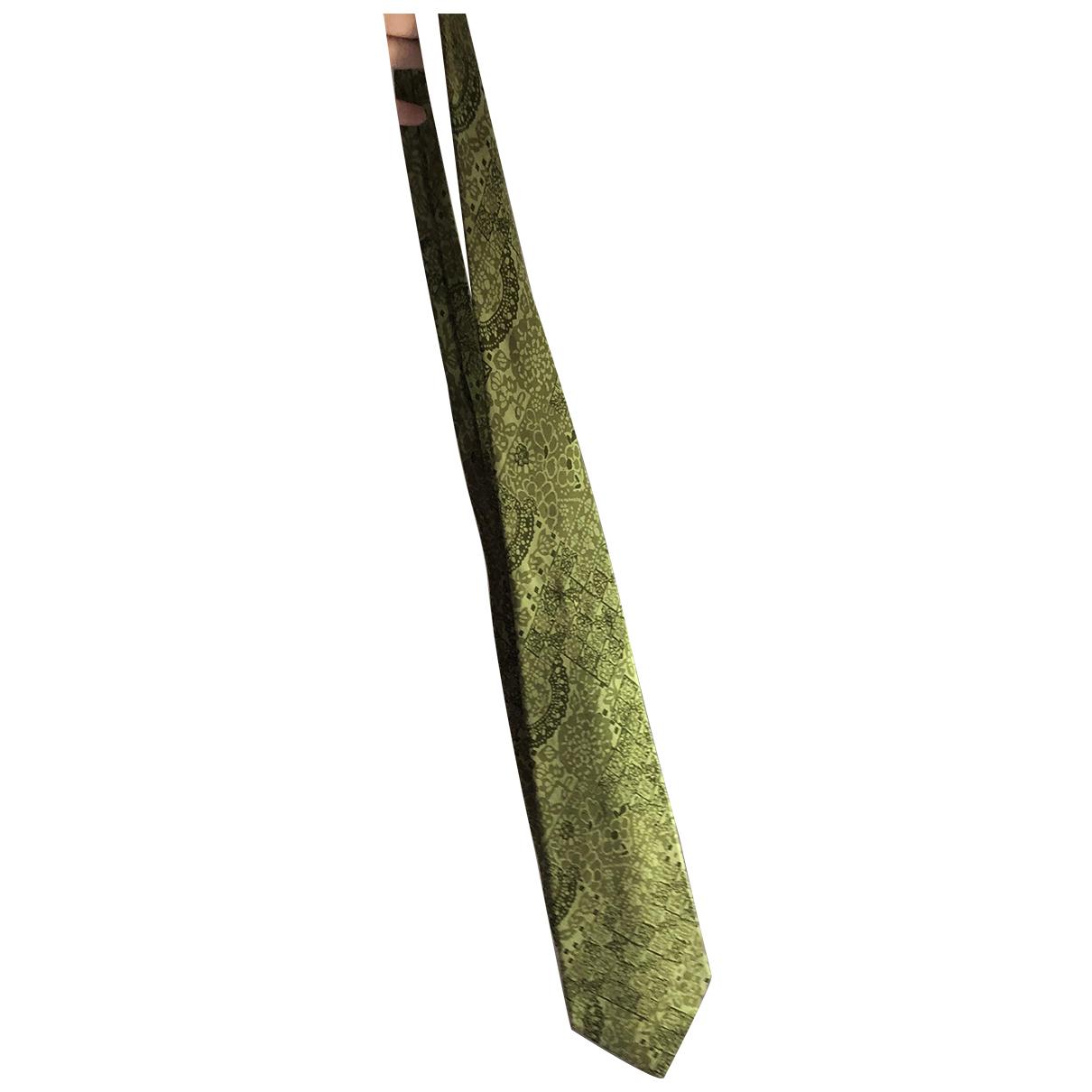 Dior \N Krawatten in  Khaki Seide