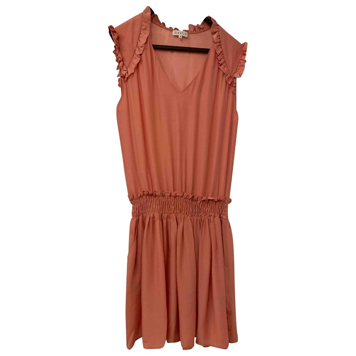 Claudie Pierlot - Robe   pour femme en soie - rose