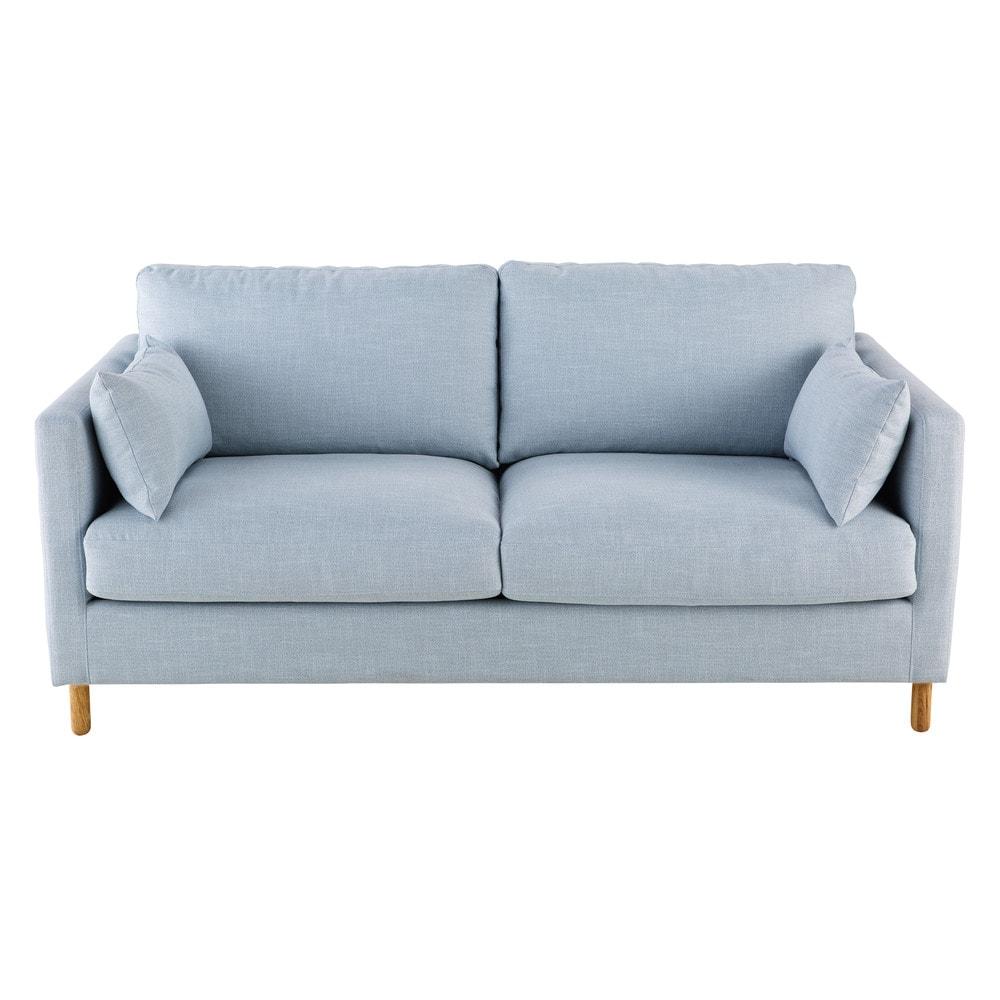 Ausziehbares 3-Sitzer-Sofa, gletscherblau Julian