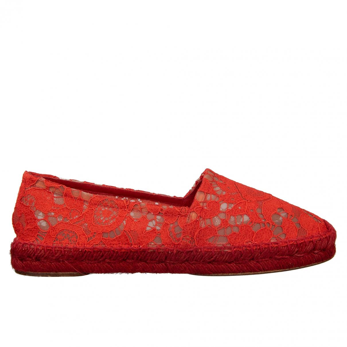 Dolce & Gabbana - Espadrilles   pour femme en toile - rouge