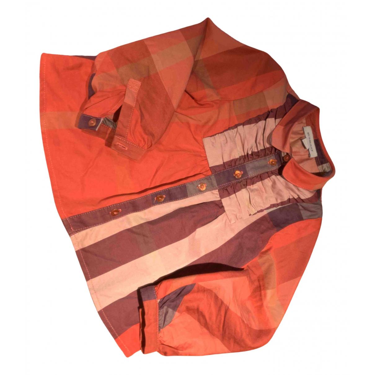 Burberry - Top   pour enfant en coton - orange