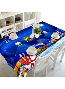 Lovely Santa Claus and Merry Christmas Gifts Festival Feast Home Table Cover Cloth