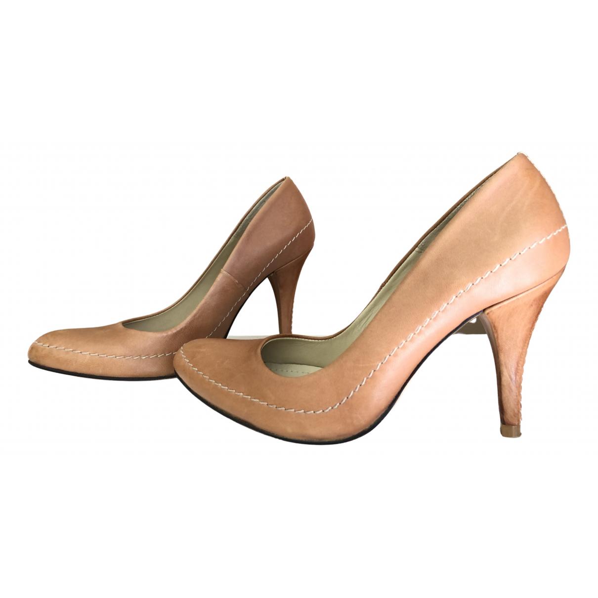 Vanessa Bruno \N Camel Leather Heels for Women 38 EU