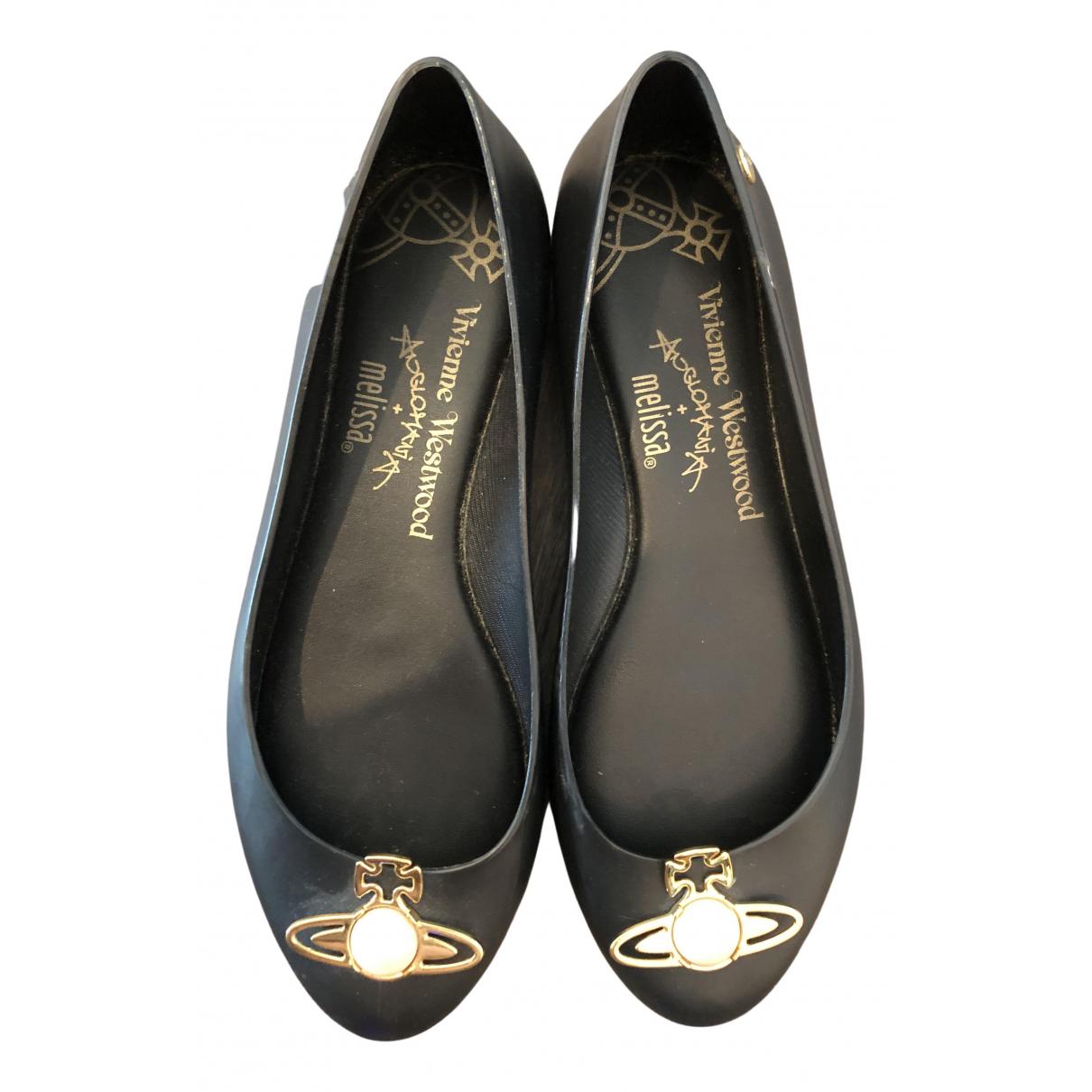 Vivienne Westwood - Ballerines   pour femme en caoutchouc - noir