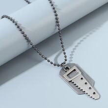 Maenner Halskette mit Sah Dekor
