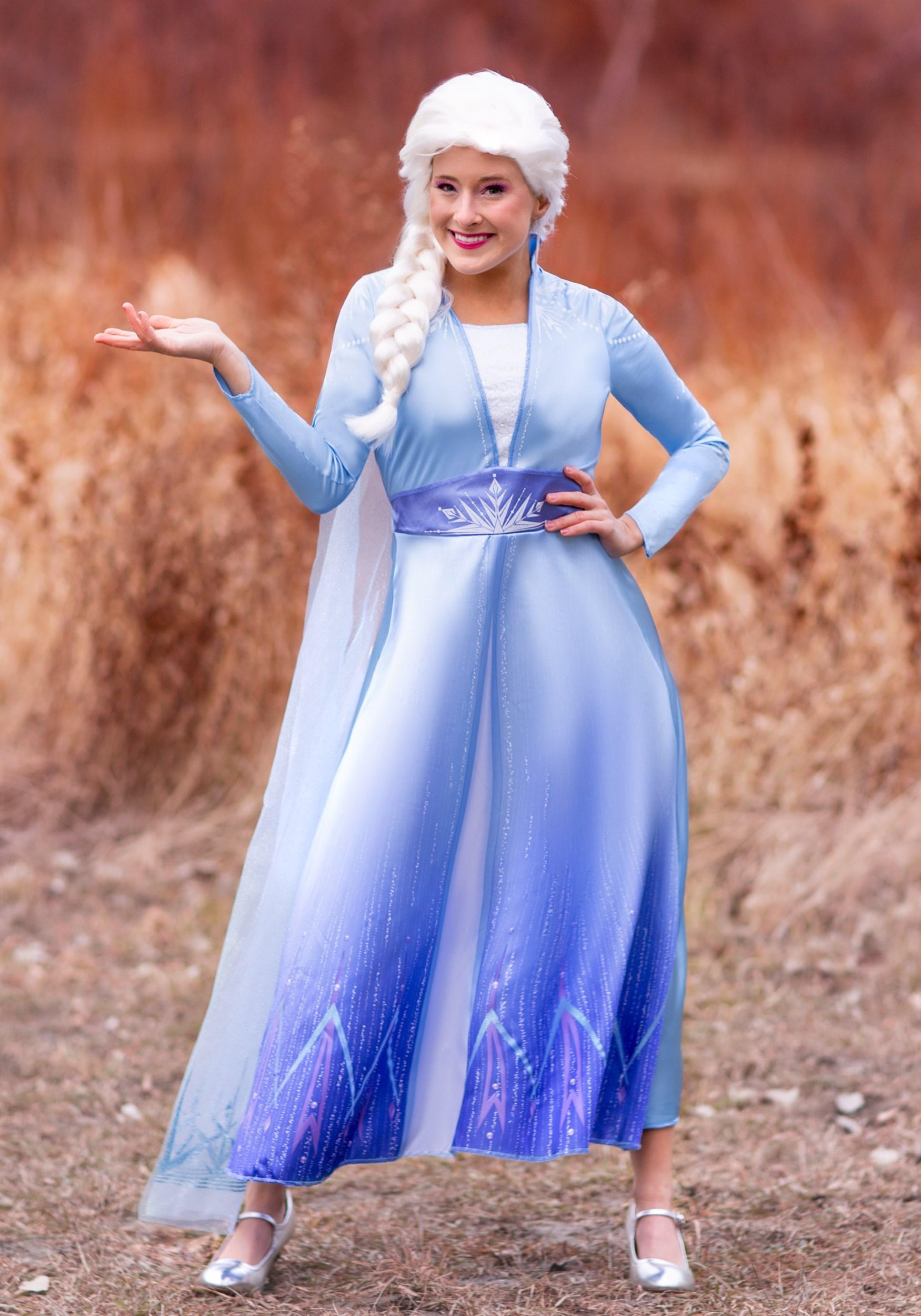 Deluxe Frozen 2 Elsa Costume for Women | Elsa Cosplay Costume