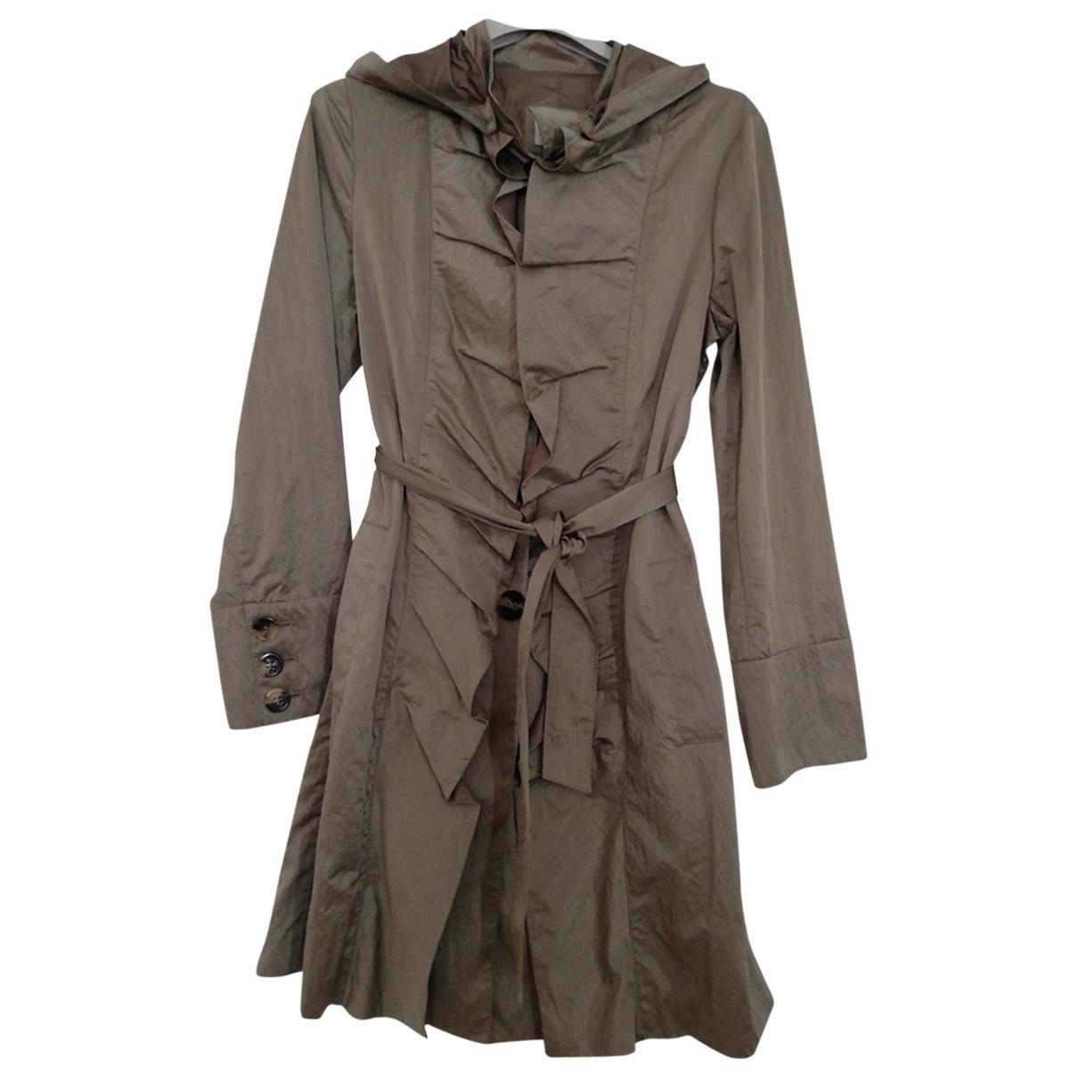 Armani Collezioni N Ecru Trench coat for Women 42 IT