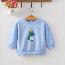 Sweatshirt mit Karikatur Krokodil Muster