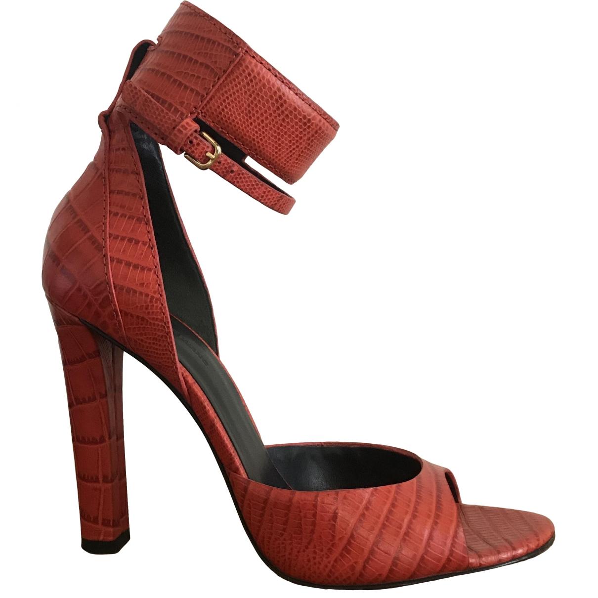 Alexander Wang - Sandales   pour femme en cuir - rouge