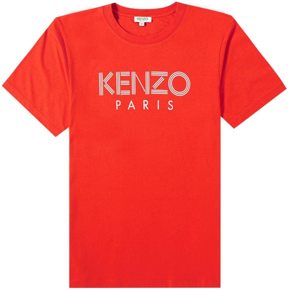 Kenzo Paris Logo T-Shirt Colour: RED, Size: LARGE