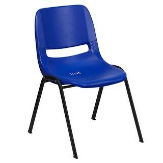 Black Plastic Stack Chair (Black)