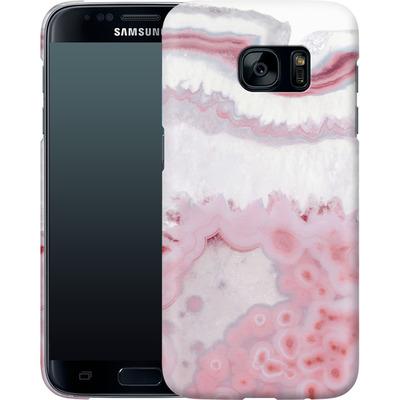 Samsung Galaxy S7 Smartphone Huelle - Blush Agate von Emanuela Carratoni