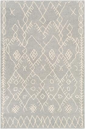 Sinop SNP-2303 8' x 10' Rectangle Global Rug in Medium Gray